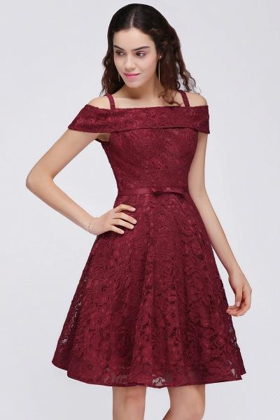 BRISTOL | A-Line Spaghetti Straps Short Lace Burgundy Homecoming Dresses_4