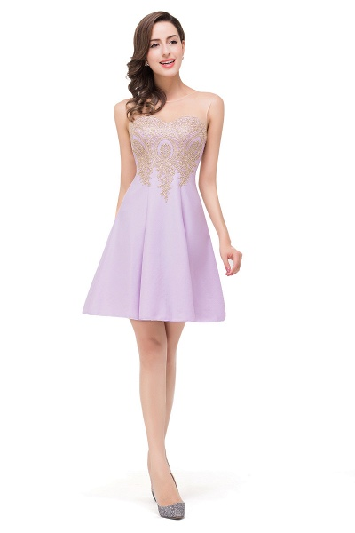 ESTHER | A-line Sleeveless Chiffon Short Prom Dresses with Appliques_10