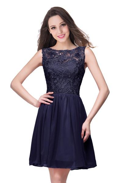ELIANA | A-line Short Sleeveless Bateau Chiffon Ruffles Lace Top Prom Dresses_6
