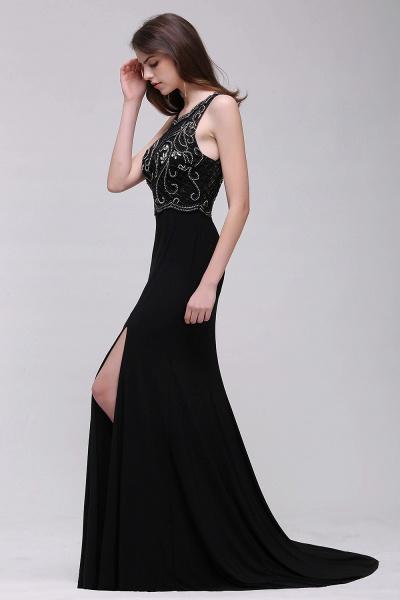 Wonderful Straps Chiffon Column Prom Dress_4
