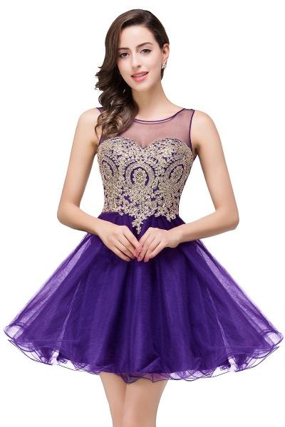A-line Crew Short Sleeveless Appliques Prom Dress_2