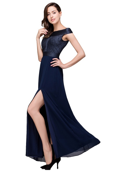 FRANCESCA | Sheath Off Shoulder Floor-Length Chiffon Prom Dresses_5