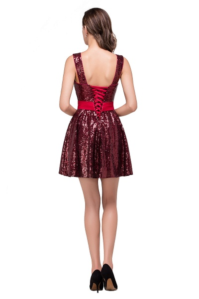 Excellent Sequined A-line Homecoming Dress_3