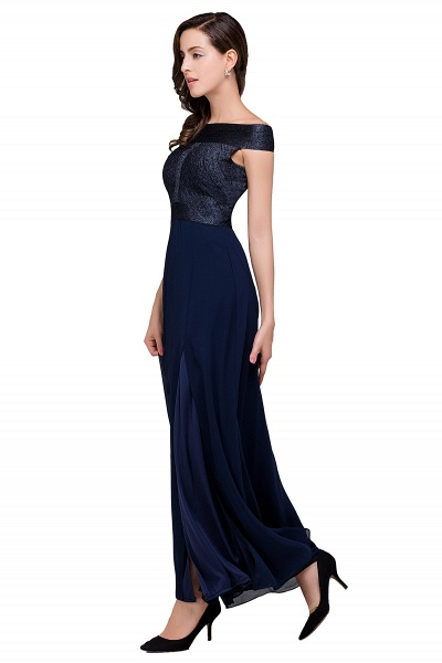 FRANCESCA | Sheath Off Shoulder Floor-Length Chiffon Prom Dresses_7