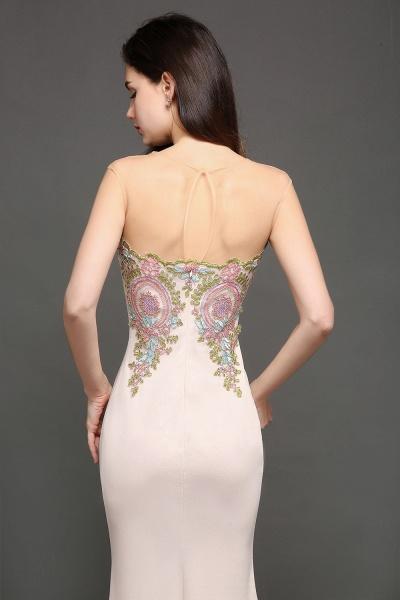 Marvelous Jewel Stretch Satin Mermaid Evening Dress_4