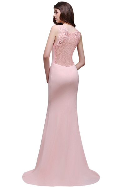 ALAIA | Mermaid Sheer Floor-Length Long Prom Dresses With Applique_5