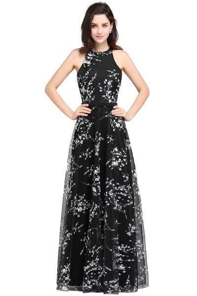 Eye-catching Jewel Stretch Satin A-line Evening Dress_1