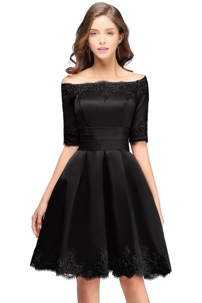 Chic Off-the-shoulder A-line Homecoming Dress_5