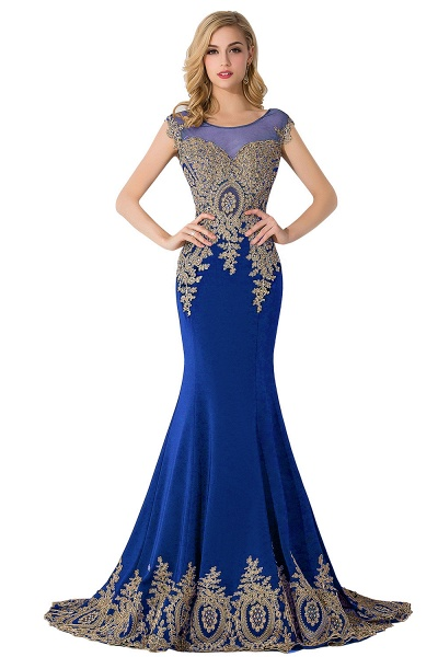 Graceful Jewel Chiffon Mermaid Prom Dress_3