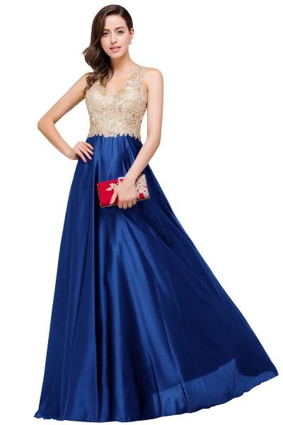 EMMALINE | A-Line Floor-Length V-neck Appliques Prom Dresses_3