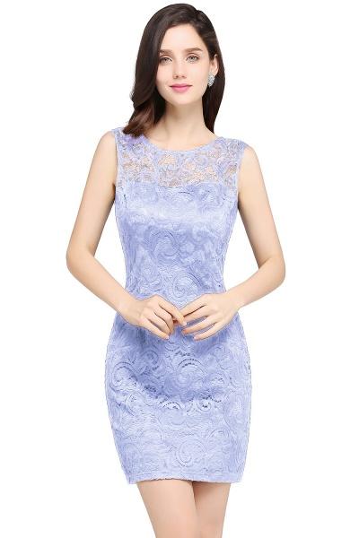 Elegant Scoop Lace Column Bridesmaid Dress_3