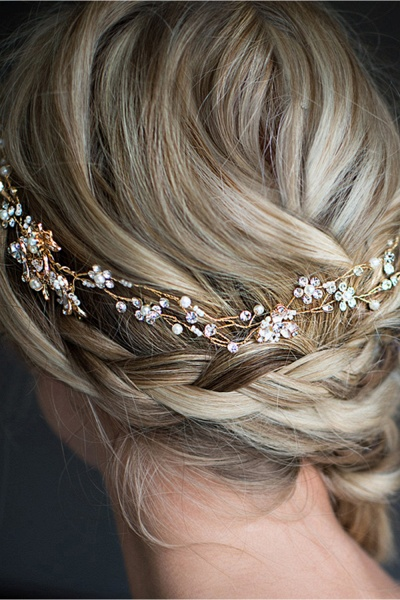 Beautiful Alloy&Imitation Pearls Special Occasion Hairpins Headpiece with Rhinestone_6