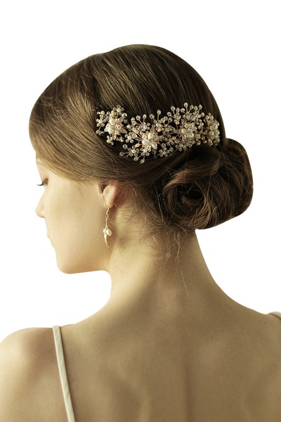Luxury glamourous Alloy&Rhinestone Special Occasion&Wedding Headbands Headpiece with Imitation Pearls_1