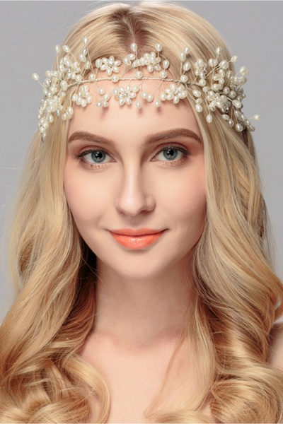 Beautiful Alloy&Imitation Pearls Party Headbands Headpiece with Rhinestone