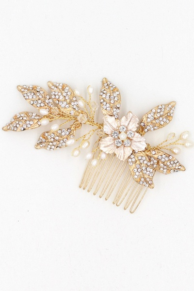 Beautiful Alloy&Rhinestone Party Combs-Barrettes Headpiece with Imitation Pearls_10