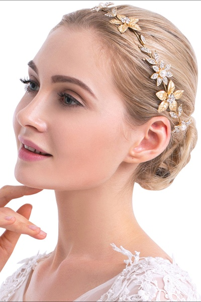 Floral Alloy&Imitation Pearls Daily Wear Hairpins Headpiece with Rhinestone_1