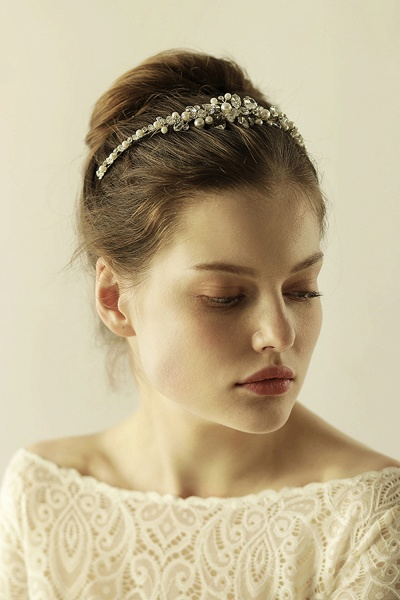 Elegant Alloy Imitation Pearls Special Occasion&Wedding Hairpins Headpiece with Crystal Rhinestone_8