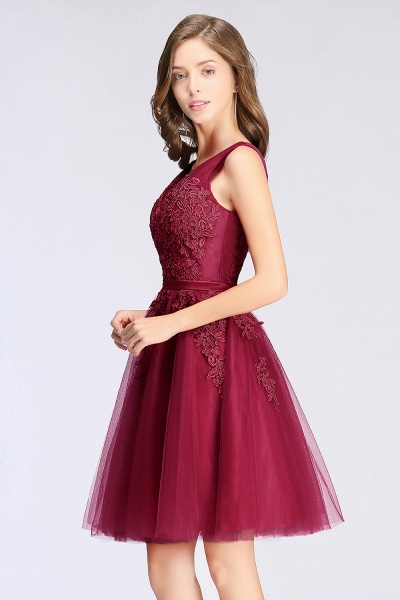Glorious V-neck Tulle A-line Evening Dress_13
