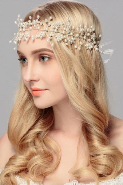 Beautiful Alloy&Imitation Pearls Party Headbands Headpiece with Rhinestone_5