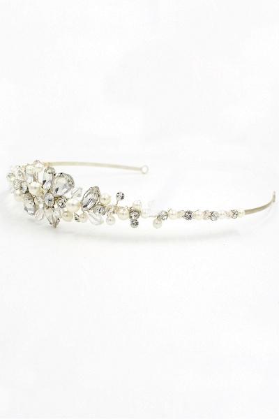 Elegant Alloy Imitation Pearls Special Occasion&Wedding Hairpins Headpiece with Crystal Rhinestone_11