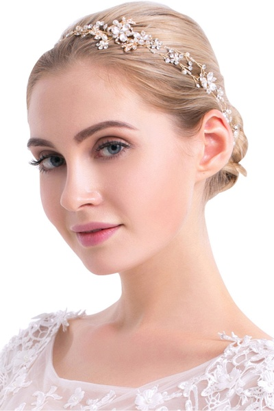 Beautiful Alloy&Imitation Pearls Special Occasion Hairpins Headpiece with Rhinestone