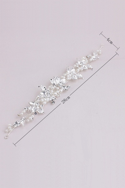 Elegant Alloy&Imitation Pearls Special Occasion Hairpins Headpiece with Rhinestone_7