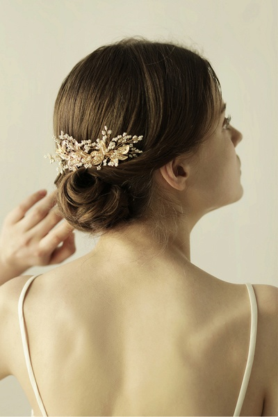 Beautiful Alloy Daily Wear Combs-Barrettes Headpiece with Imitation Pearls_1