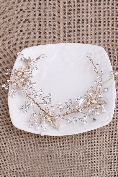 Glamourous Alloy&Imitation Pearls Special Occasion&Party Headbands Headpiece with Rhinestone_8