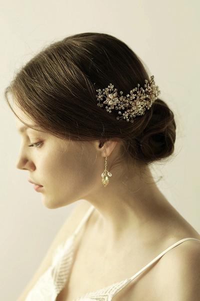 Luxury glamourous Alloy&Rhinestone Special Occasion&Wedding Headbands Headpiece with Imitation Pearls_6