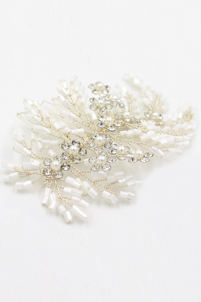 Glamourous Alloy Imitation Pearls Special Occasion Combs-Barrettes Headpiece with Rhinestone_1