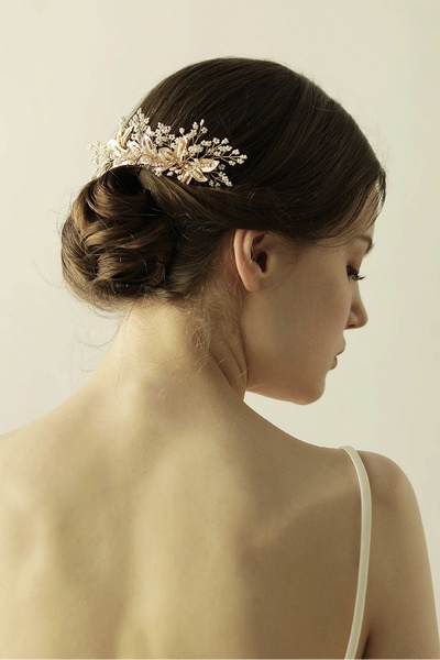 Beautiful Alloy Daily Wear Combs-Barrettes Headpiece with Imitation Pearls_7