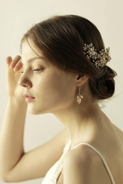 Luxury glamourous Alloy&Rhinestone Special Occasion&Wedding Headbands Headpiece with Imitation Pearls_3