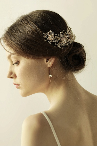 Luxury glamourous Alloy&Rhinestone Special Occasion&Wedding Headbands Headpiece with Imitation Pearls_7