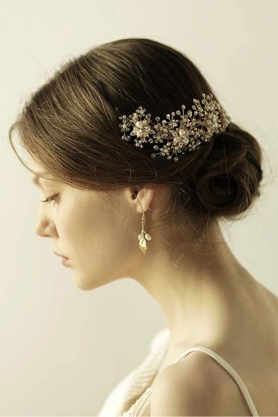 Luxury glamourous Alloy&Rhinestone Special Occasion&Wedding Headbands Headpiece with Imitation Pearls_5