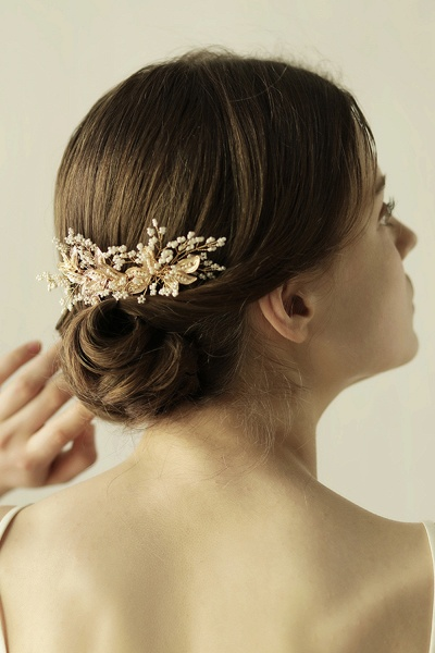Beautiful Alloy Daily Wear Combs-Barrettes Headpiece with Imitation Pearls_9