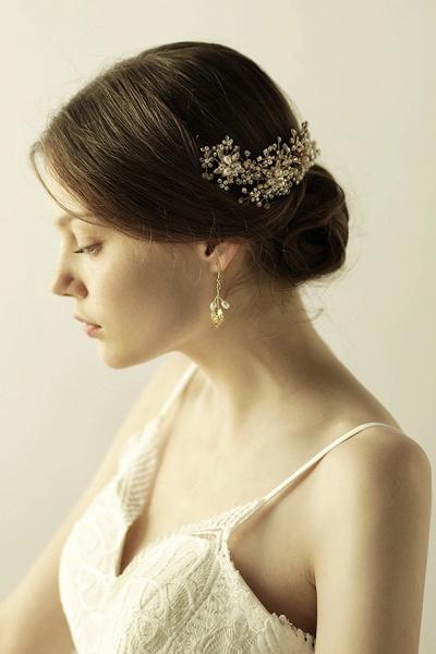 Luxury glamourous Alloy&Rhinestone Special Occasion&Wedding Headbands Headpiece with Imitation Pearls_4