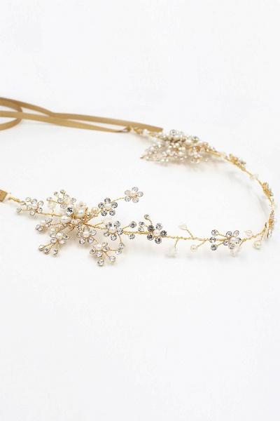 Beautiful Alloy&Rhinestone Special Occasion Headbands Headpiece with Imitation Pearls_11
