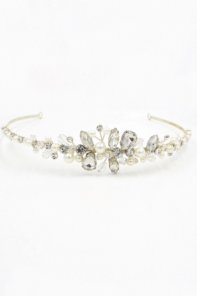 Elegant Alloy Imitation Pearls Special Occasion&Wedding Hairpins Headpiece with Crystal Rhinestone_1