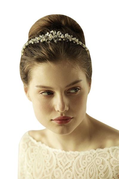 Elegant Alloy Imitation Pearls Special Occasion&Wedding Hairpins Headpiece with Crystal Rhinestone_6