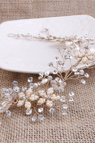 Glamourous Alloy&Imitation Pearls Special Occasion&Party Headbands Headpiece with Rhinestone_7