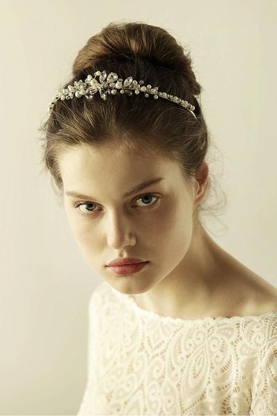 Elegant Alloy Imitation Pearls Special Occasion&Wedding Hairpins Headpiece with Crystal Rhinestone_4