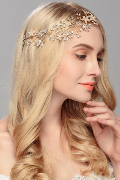 Glamourous Alloy&Imitation Pearls Special Occasion&Party Headbands Headpiece with Rhinestone_3