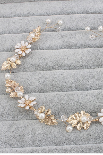 Cute Alloy&Imitation Pearls Party Hairpins Headpiece with Crystal_3