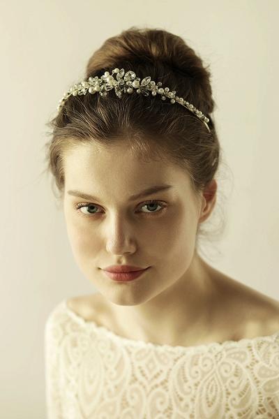 Elegant Alloy Imitation Pearls Special Occasion&Wedding Hairpins Headpiece with Crystal Rhinestone_3