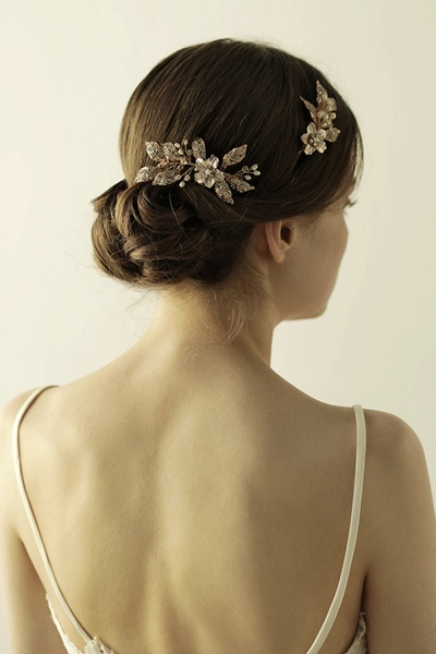 Beautiful Alloy&Rhinestone Party Combs-Barrettes Headpiece with Imitation Pearls_1