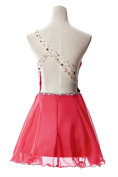 Elegant One Shoulder Chiffon A-line Evening Dress_9