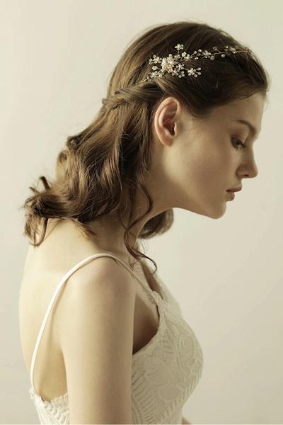 Beautiful Alloy&Rhinestone Special Occasion Headbands Headpiece with Imitation Pearls_3