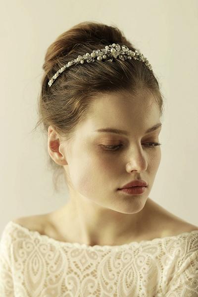 Elegant Alloy Imitation Pearls Special Occasion&Wedding Hairpins Headpiece with Crystal Rhinestone_7