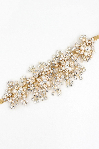 Luxury glamourous Alloy&Rhinestone Special Occasion&Wedding Headbands Headpiece with Imitation Pearls_9