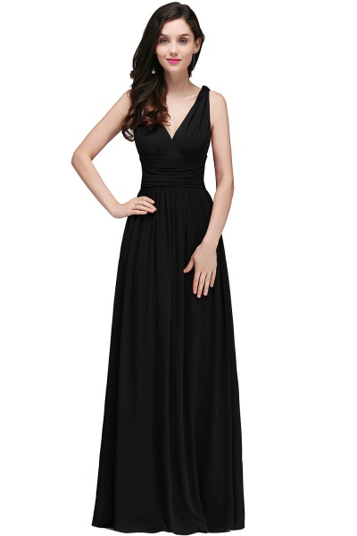 Wonderful V-neck Chiffon A-line Evening Dress_7